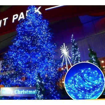 9b0e6a237b9 100 LED Impermeable Al Aire Libre Día De Navidad Luces Decorativas Alambre  De Cobre LED Solar