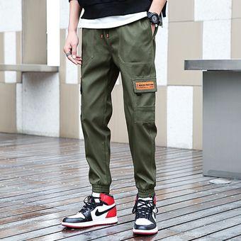 Pantalones De Carga Verde Militar Para Hombre Bolsillo Trasero Casual Cintura Elastica Moda Pantalones De Lapiz 100 De Algodon Pantalones De Longitud Al Tobillo Hombre Cui Army Green Linio Peru Ge582sp0fdp4jlpe