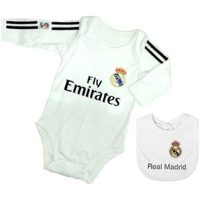 e1157002b Set ropa para bebe niño niña bodi y babero real madrid