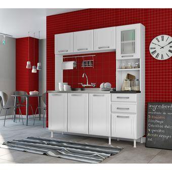 Compra Combo Muebles Cocina Pop Telasul Metálico Blanco + Kit Triple ...