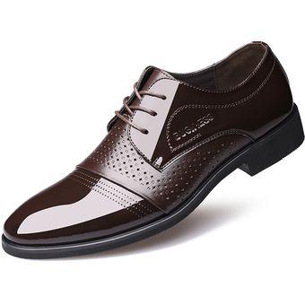 diseño innovador mejor precio para nueva Zapatos Mocasines De Encaje De Hueco Respirable Pare Hombre - Marrón