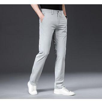 Pantalones Clasicos De Alta Calidad Para Hombre Pantalones Rectos De Color Liso Para Primavera Y Verano Pantalones Informales De Longitud Completa Para Hombre Xyx White Linio Peru Ge582fa0cez2nlpe