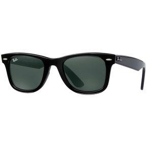Anteojos De Sol Ray Ban Rb2140 901 Wayfarer - Negro Con Verde Oscuro G-15 06c07414de4d