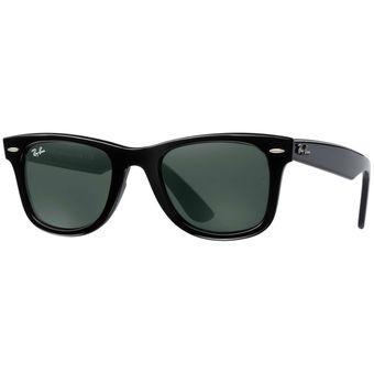 823af9d4d Anteojos De Sol Ray Ban Rb2140 901 Wayfarer - Negro Con Verde Oscuro G-15