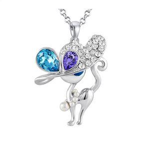 67365a9d4737 Záffira - Collar Sexy Cat Con Cristales Swarovski - Plateado