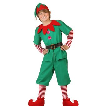 17cd12e41 Agotado Disfraz Tudi De Duende Verde Niño Elfo Pastorela Festival Navidad