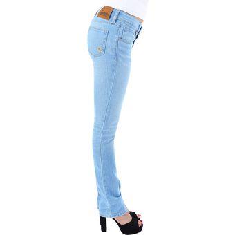 eccf6f8301 Compra Pantalon Mezclilla Para Dama Innermotion Jeans 1166 - Azul ...