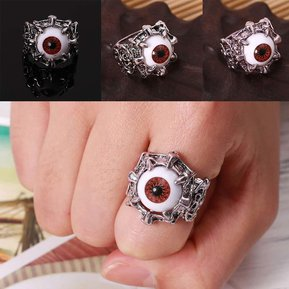 de49815104b3 Hombres Mujeres Vintage Style Silver Tone Eye Rings Punk Carving Rings  Jewelry-18