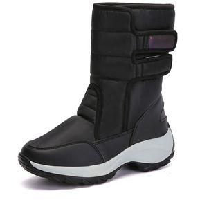 a0b5774b6bb botas de invierno de pisos cálidos Mujer Botas femininas de inverno