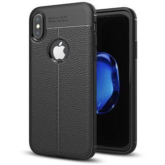 cf870ae1182 Compra Estuche Autofocus Gel Diseño Cuero Iphone 6 - Negro online ...