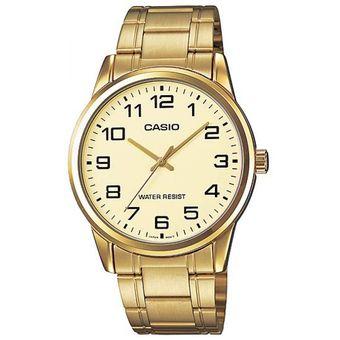 d0b9037db469 Compra Reloj Casio Hombre MTP-V001G-9B Dorado Análogo Autentico ...