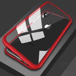 357435dfe7af Funda Magnética iPhone XR Bumper Aluminio con Mica Glass