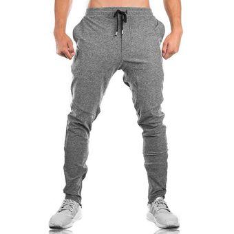 Pantalones De Chandal De Algodon Para Hombre Para Gimnasio Gris Linio Peru Ch411fa05qpxglpe