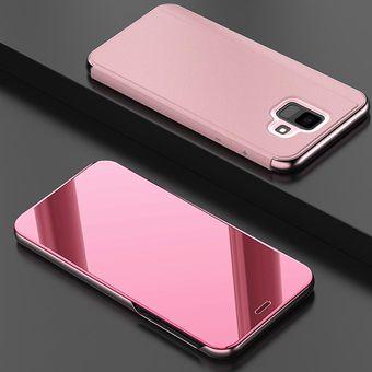 moda mejor valorada seleccione original precios baratass Funda De Espejo Para Samsung Galaxy A6 Plus 2018-Rosa Oro