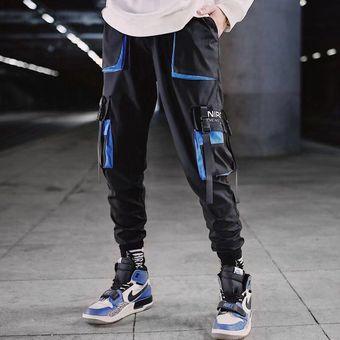 Pantalones Hip Hop Con Cintas De Carga Para Hombre Pantalones Para Correr Ropa De Calle Para Hombre Pantalones A La Moda Para Hombre Con Cintura Elastica Cintas De Algodon Pdg1599 Wan