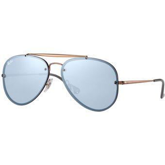 Compra Gafas Ray Ban Aviator Blaze Unisex Azul Espejado online ... 0b3bf387e9