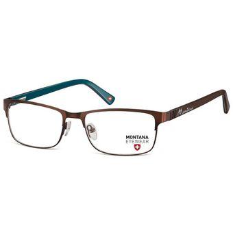 4d2537b19a Monturas Montana Oftálmicas Livianas Metalicas Para Lentes Opticos  Formulados - Gafas Marco MM620C - Café/