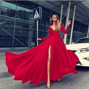 84903a3d6 Vestido De Noche para Fiestas-Rojo
