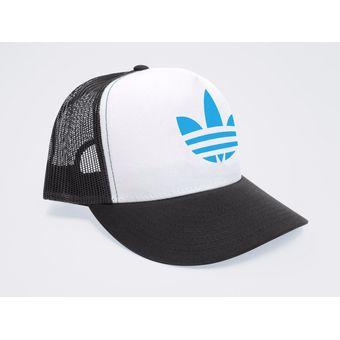 Compra Gorra Negra Frente Blanco Personalizada Logo Adidas Azul ... 057972068d2
