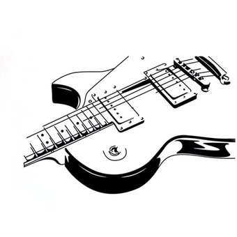 Compra Ey Pvc Extraible Instrumento Musical Guitar Wall Sticker