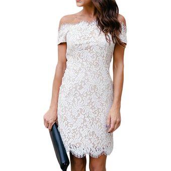 198f93cfb01 Compra Vestido De Coctel Virtual Moda Blanco Invierno online | Linio ...