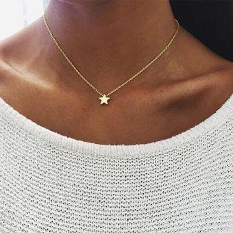 2599381ac1e7 Agotado Collar Harmonie Accesorios Cadena Dije Pequeña Estrella Dorado