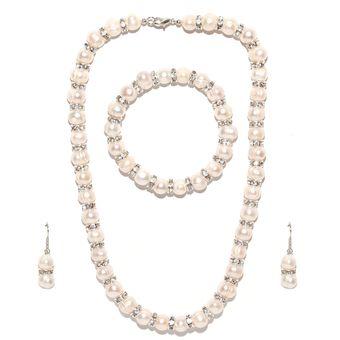 7585f6de6520 Compra Conjunto De Perlas Cultivadas con Cristales Ocean Heart ...