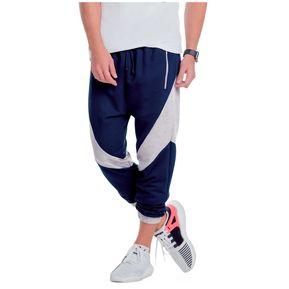 Jogger Juvenil Masculino Marketing Personal 35245 Azul Oscuro Gris a19308f62a0