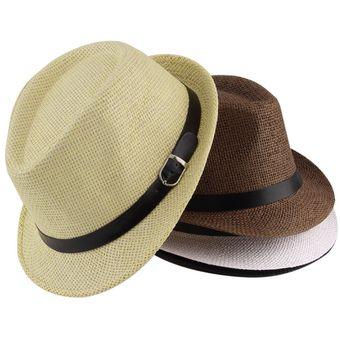 ER Elegante Sombrero De Paja Del Verano Del Casquillo Del Sombrero Salacot  Fedora Trilby Panamá Casquillo c9c54e51c91