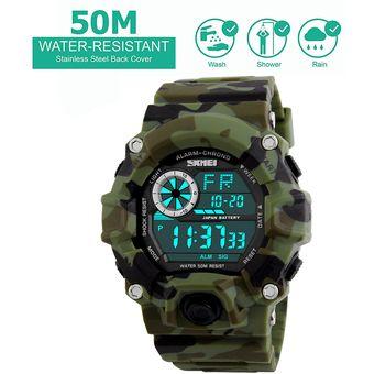 7803ca199f7e Compra Camuflaje Verde Reloj Deportivo Skmei Militar Impermeable ...