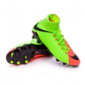 Agotado Guayos Fútbol Hombre Nike HypervenomX Phatal III FG -Verde Con  Naranja 62b912284b307