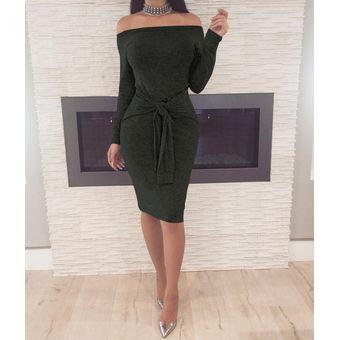 cb01d8a9e3 vestido de fiesta de cóctel por la noche vestido de las mujeres-Negro