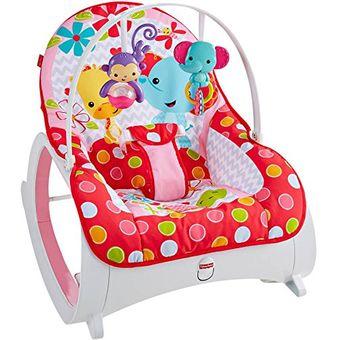 c6260147c Agotado Silla Mecedora Vibradora Crece Conmigo Bebe Fisher Price Rosada  CMR22