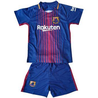 Conjunto De Camiseta Y Pantalones Corto De Fútbol Para Niños - Barcelona 68566258a88ce