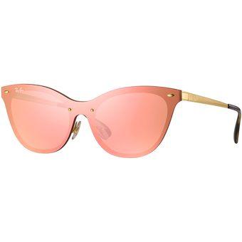 ray ban espejo rosa