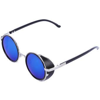f8e54e265c Compra Gafas de sol de diseño fresco y redondo con lente (Azul ...