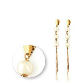 8ffb6b1c08de Aros Vanité Chic Pearls Oro Laminado -Dorado