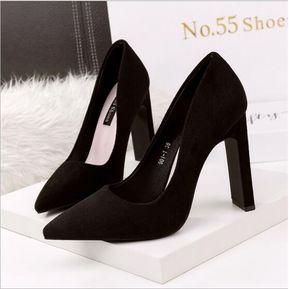 e160921543d Zapatos De Tacon Genérico Mujer-Negro