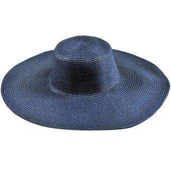 E-Thinker Sombrero Para El Sol Para Playa Sombrero Grande Gorra-Azul Vaquero 46df9524eed