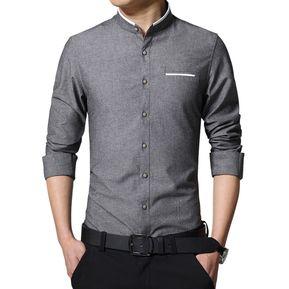5fce5e52d0 Camisa Hombre Diseño Lineas - Gris