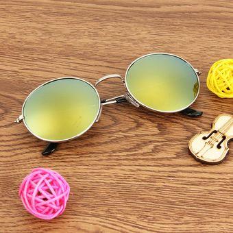 4001f051f5 Oval Retro UV400 Protección UV Metal Frame Lente Gafas De Sol De CA (plata +