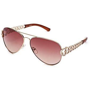 7968321272 Compra Guess - Lentes de Sol Aviador Espejo para Mujer - Dorado ...