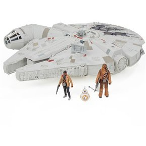 Hasbro Star Wars Millenium Falcon Nave Alcón Milenario Con Chewbacca Y Finn  Set De Juego- 1870f3ae4a89