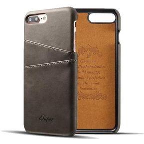 fbade2c31 Funda Case Con iPhone 8 Carcasa de Ecocuero Tarjetas-Gris