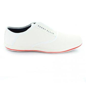 80a2cc3d9 Compra Tenis para Hombre Perry Ellis PE-1442-032974 Color Blanco ...