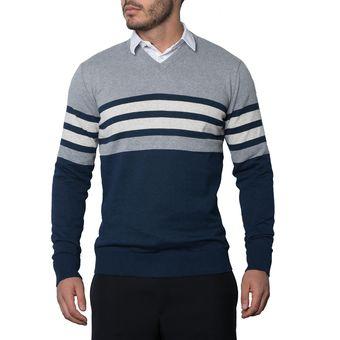 Compra Saco Rayado 216 Totas Para Hombre Azul online  7f79af43b10