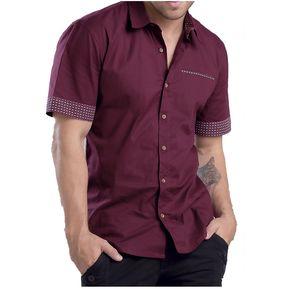 0e7c3a19f Camisa Juvenil Masculino Marketing Personal 31354 Vinotinto