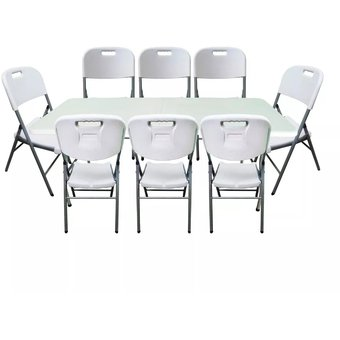 Compra kit mesa 8 sillas plegables despegables jardin for Compra de sillas plegables