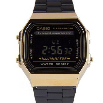 99f6c3c308c3 Compra Reloj Casio Retro A-168WEGB-1B Negro Unisex online