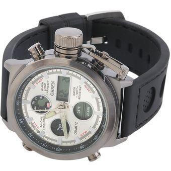 535ea577d0d2 Reloj EY LED Correa De Silicona Reloj Deportivo A Prueba De Agua De Doble  Pantalla Onsun